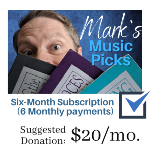 Mark's Monthly Picks - Monthly Subscription - First Unitarian Universalist Church of Houston