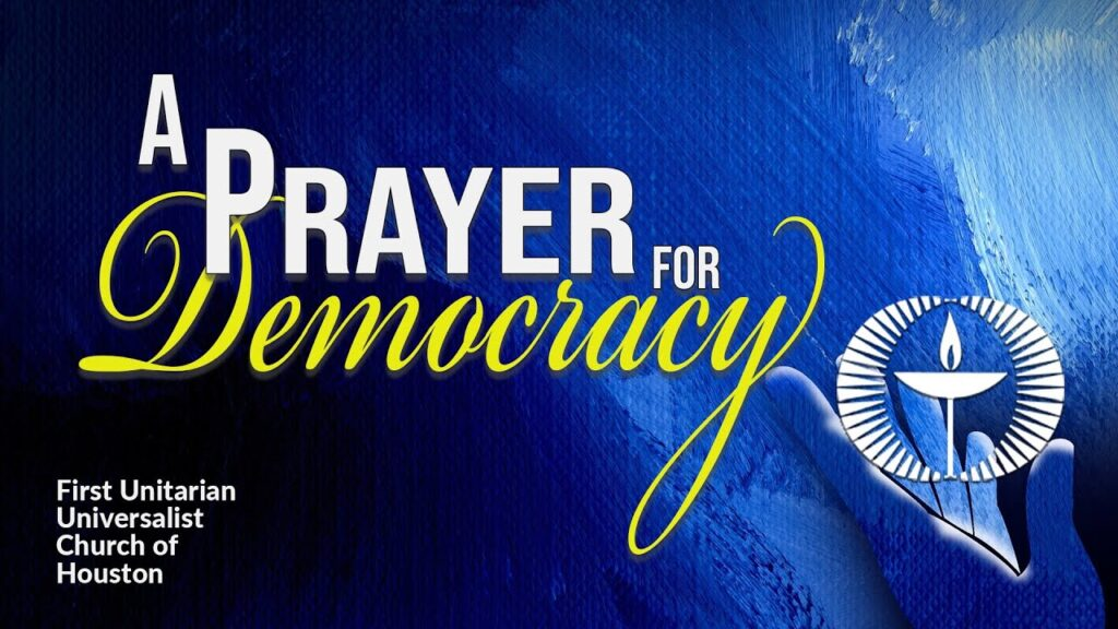 a prayer for democracy
