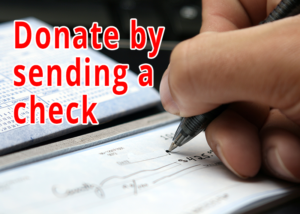 Donate by Sending a Check